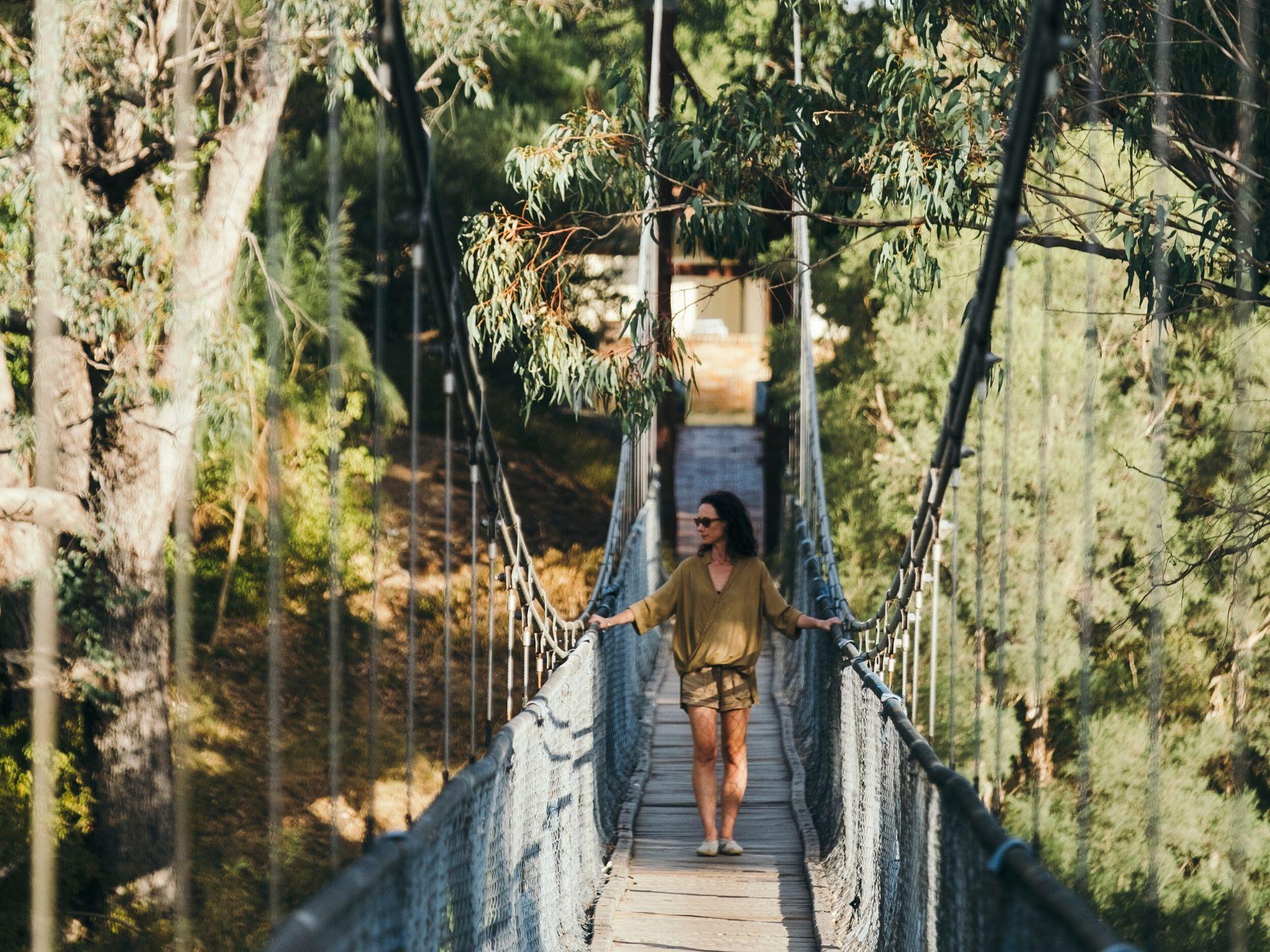 Pinjarra Heritage Walk - Suspension Bridge - Visit Mandurah