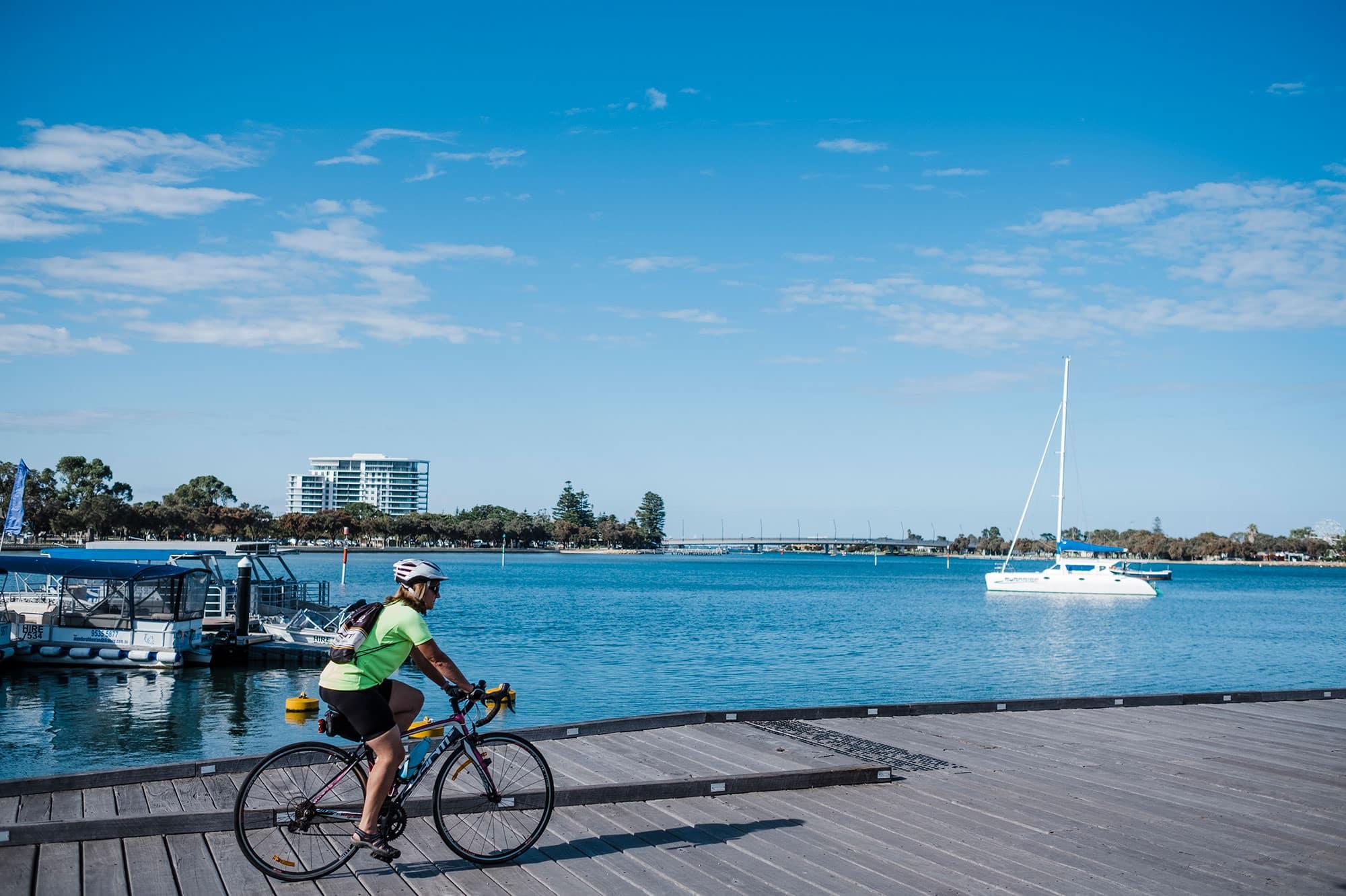 Cycling-Mandurah-Boardwalk