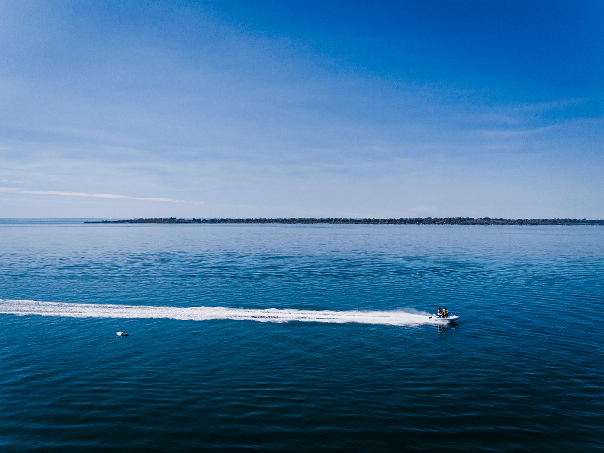 Jet Skiing on the estuary in Mandurah