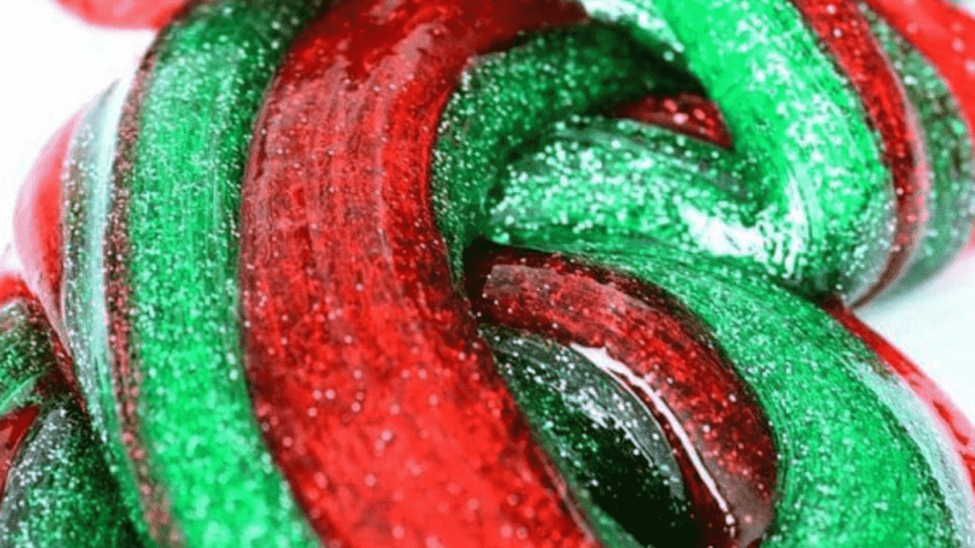 Fun with Christmas Candy Cane Slime