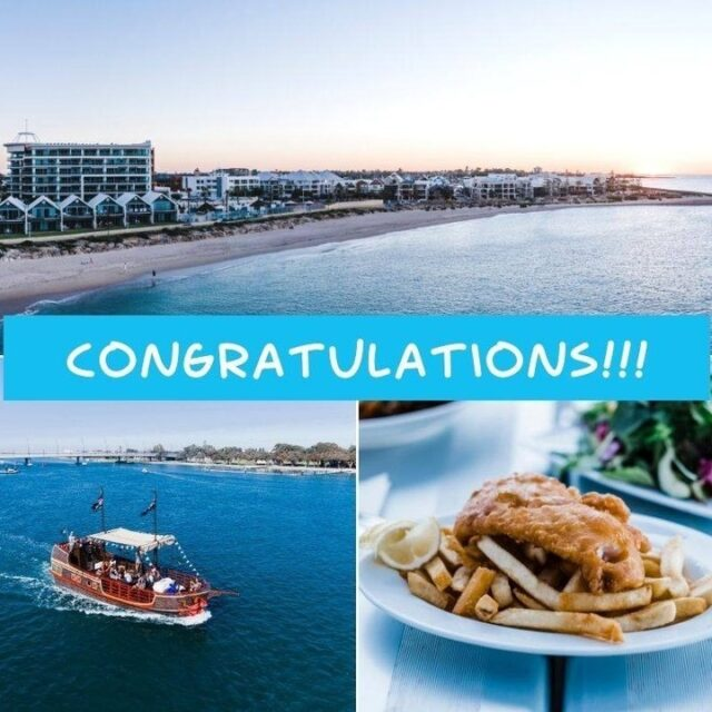 CONGRATULATIONS to Elise from Secret Harbour! You are the lucky winner of our Mandurah weekend getaway competition including:@sharkysmandurah $100 voucher 1 night's stay at @seashellsmandurah  2 Bedroom Apartment Cruise on @pirateshipmandurah - Family pass (2 adults 2 kids) Justin Langer signed Cricket Australia shirtWe look forward to welcoming you to #Mandurah soon.Thanks to everyone who entered our competition. #visitmandurah#seePerth #thisisWA #westernaustralia #wonderoutyonder #competition #helloperth #soperth #perthisok